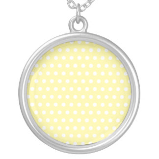 Yellow polka dots pattern Spotty Necklaces