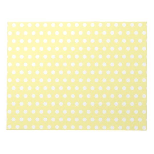 Yellow polka dots pattern. Spotty. Notepad