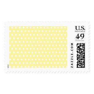 Yellow polka dots pattern. Spotty. Postage