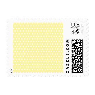 Yellow polka dots pattern. Spotty. Stamps