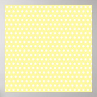 Yellow polka dots pattern. Spotty. Print