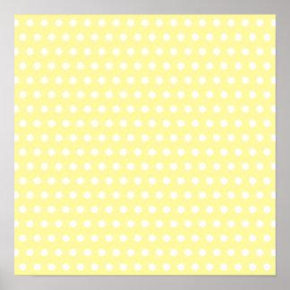 Yellow polka dots pattern. Spotty. Poster
