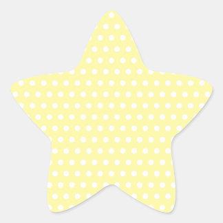 Yellow polka dots pattern. Spotty. Star Sticker