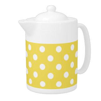 Yellow Polka Dots Pattern Teapot
