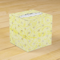 yellow polka dots Personalized favor boxes