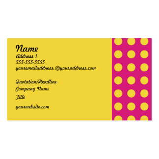 Yellow Polka Dots Retro Style Business Cards