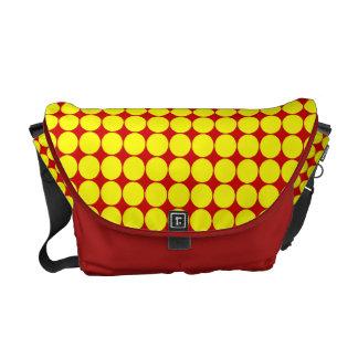 Yellow Polka Dots Rickshaw Messenger Bag