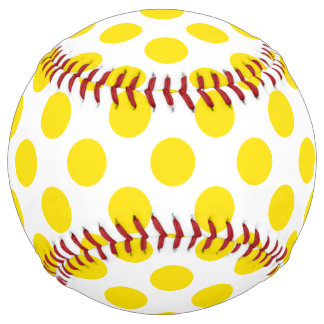 Yellow Polka Dots Softball