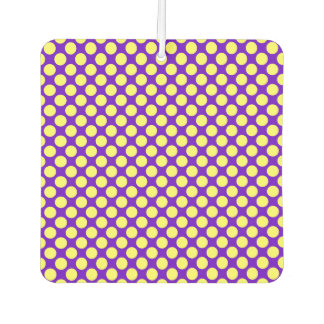 Yellow Polka Dots With Purple Background