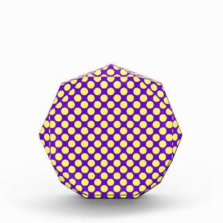 Yellow Polka Dots With Purple Background Acrylic Award
