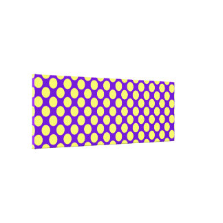 Yellow Polka Dots With Purple Background Canvas Print