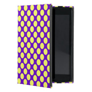 Yellow Polka Dots With Purple Background Case For iPad Mini