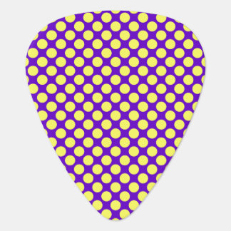 Yellow Polka Dots With Purple Background Guitar Pick