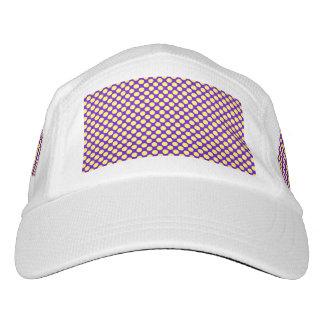 Yellow Polka Dots With Purple Background Headsweats Hat