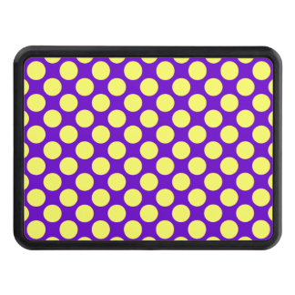 Yellow Polka Dots With Purple Background Hitch Cover