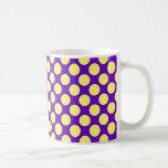 Yellow Polka Dots With Purple Background Coffee Mugs