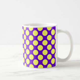 Yellow Polka Dots With Purple Background STaylor Coffee Mug