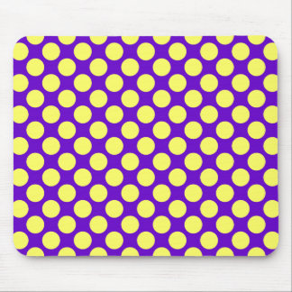 Yellow Polka Dots with Purple Background STaylor Mouse Pad