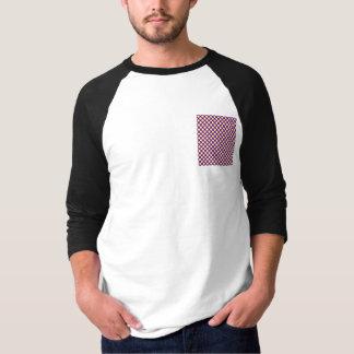 Yellow Polka Dots With Purple Background Tee Shirts