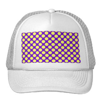 Yellow Polka Dots With Purple Background Trucker Hat