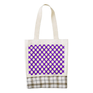 Yellow Polka Dots With Purple Background Zazzle HEART Tote Bag
