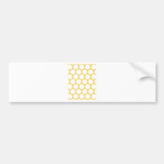 Yellow polka doty bumper sticker