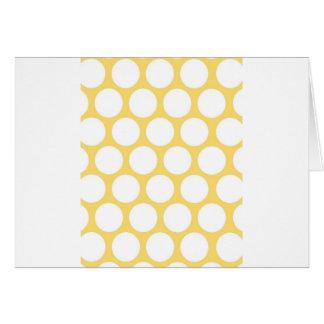 Yellow polka doty card