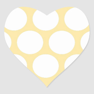 Yellow polka doty heart sticker