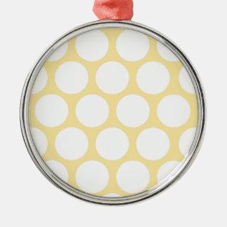 Yellow polka doty metal ornament