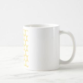 Yellow polka doty mugs