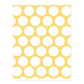 Yellow polka doty postcard