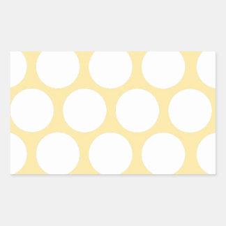 Yellow polka doty rectangular sticker