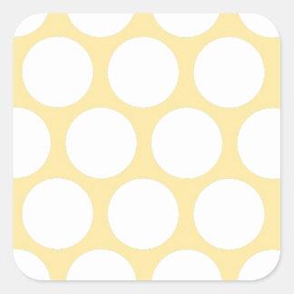 Yellow polka doty square sticker