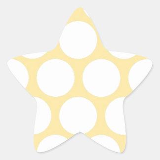 Yellow polka doty star sticker
