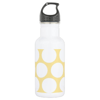 Yellow polka doty water bottle
