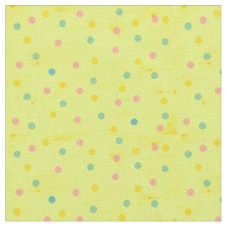 Yellow Polka Fabric