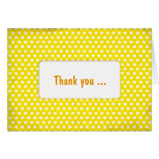 Yellow Polkadot Card