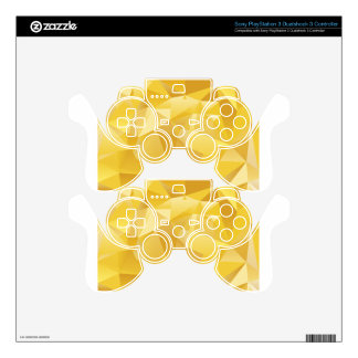Yellow Polygon PS3 Controller Skin