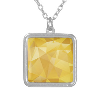 Yellow Polygon Silver Plated Necklace