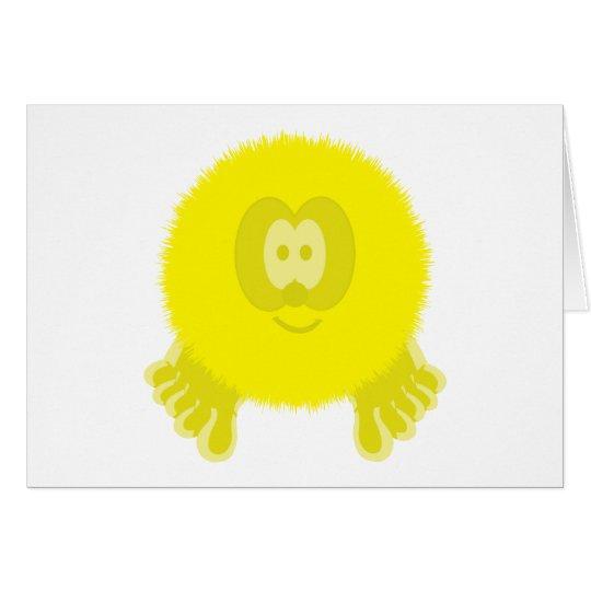 Yellow Pom Pom Pal Card