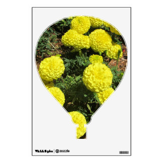 Yellow Pompom Marigolds Garden Plant Wall Art Wall Decal