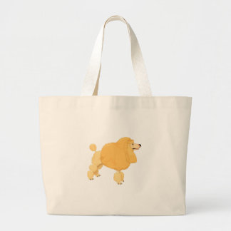 Yellow Poodle Dog Canvas Bags