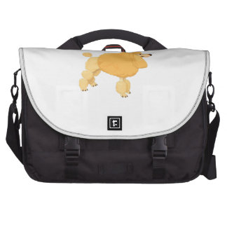 Yellow Poodle Dog Commuter Bags