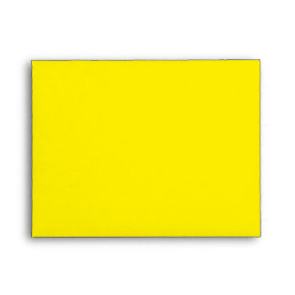 Yellow Pop Art Daffodil Note Card Envelope
