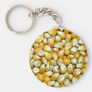Yellow popcorn kernels pattern key chain