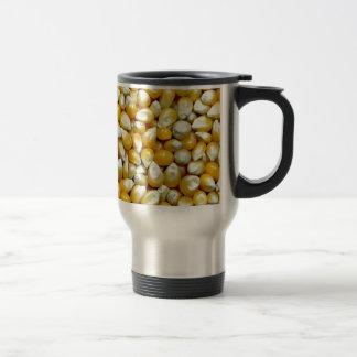 Yellow popcorn kernels pattern travel mug