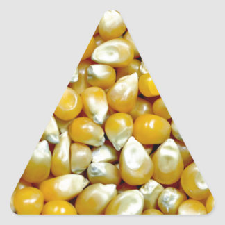 Yellow popcorn kernels pattern triangle sticker