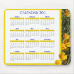 Yellow_poppies-calendar Mouse Pad