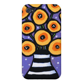 Yellow Poppies Cover For iPhone 4
