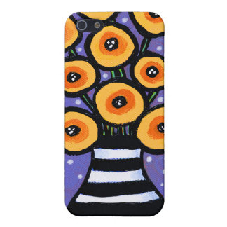 Yellow Poppies Covers For iPhone 5